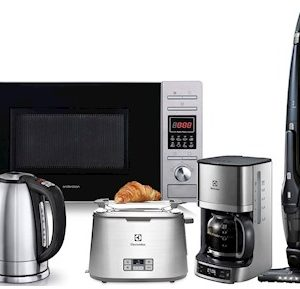 Kaffebryggare+Vattenkokare+Handdammsugare+Brödrost+Mikrovågsugn